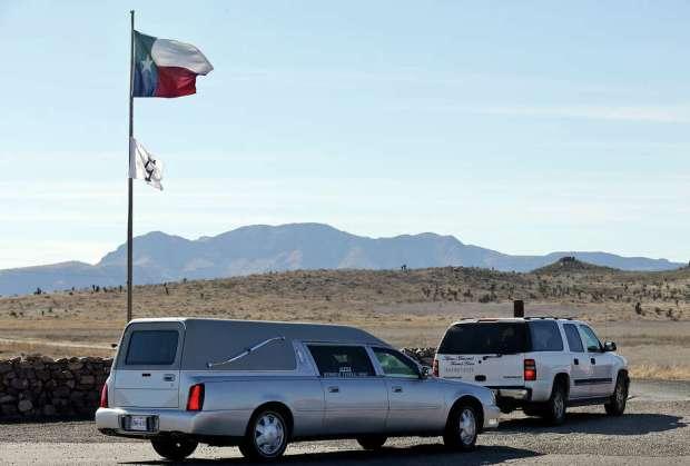 A man guards the entrance to Cibolo Creek Ranch Saturday Feb. 13, 2016 on U.S. 67 near Shafter, Tx. Photo: Edward A. Ornelas, San Antonio Express-News / © 2016 San Antonio Express-News