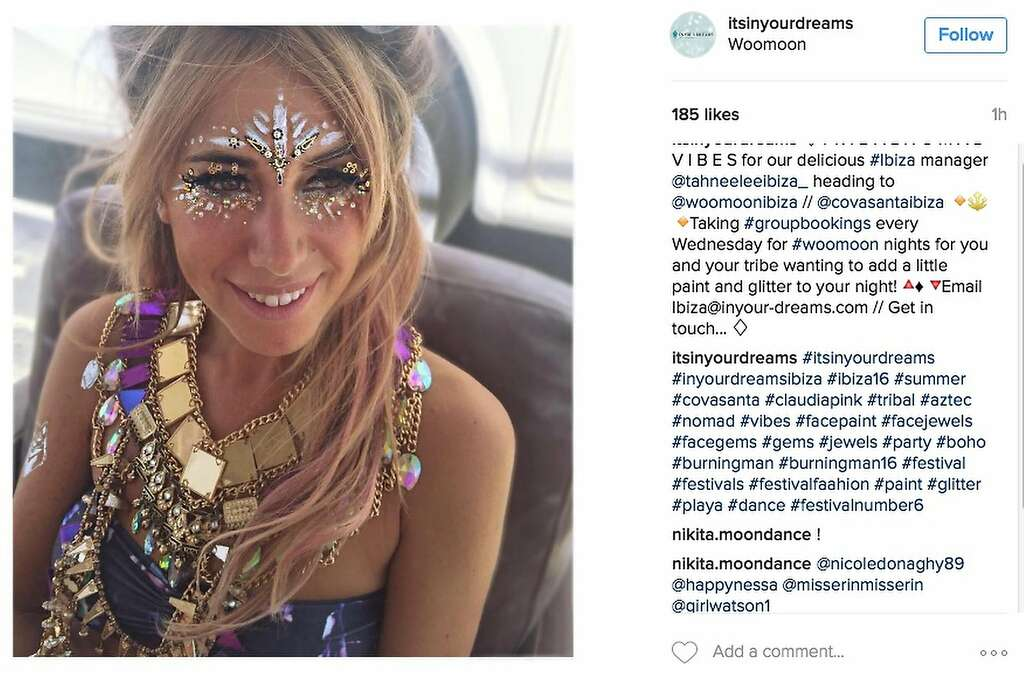There's no such thing as too much jewelry at Burning Man. Photo: Instagram Screenshot