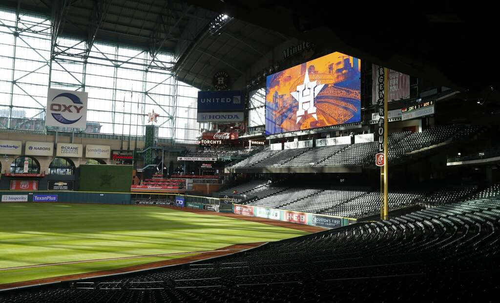 View of the new center field from the first base side during the tour of the new center field at Minute Maid Park,  Wednesday, March 29, 2017, in Houston. ( Karen Warren / Houston Chronicle ) Photo: Karen Warren/Houston Chronicle