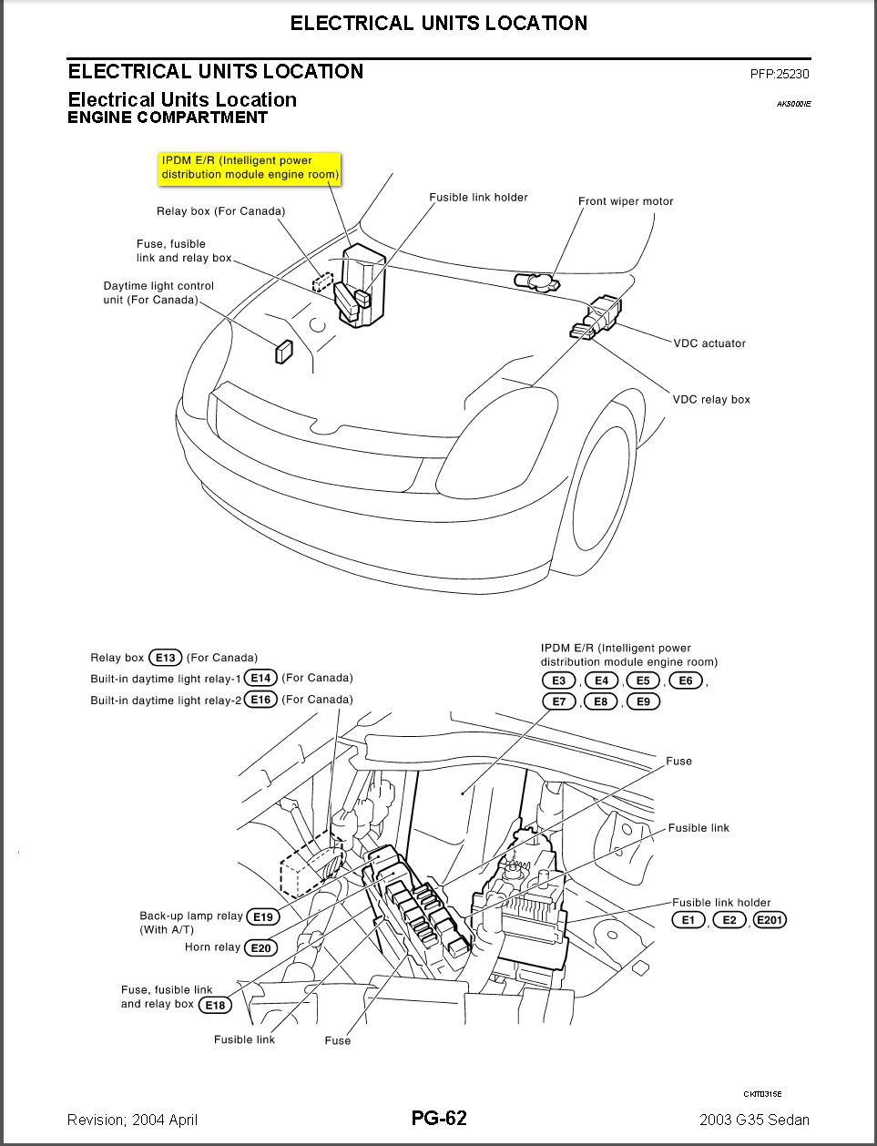2005 Infiniti G35 Blower Relay Diagram Trunk Wiring