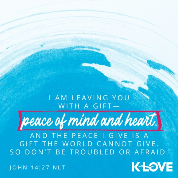 John 14:27 NLT