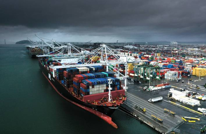 Record Imports at Port of Oakland, Partly Due to Companies Trying to Beat Trump's Tariff Increase | KQED