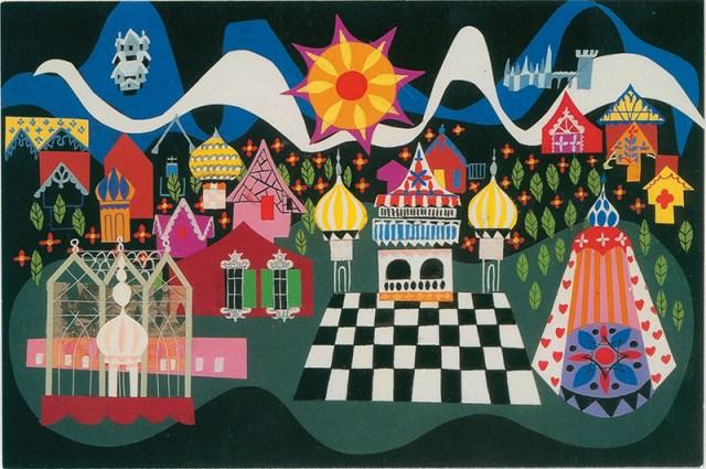 Mary Blair, it's a small world concept art, ca. 1966;