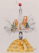 San Francisco Skyline Hat sketch by Steve Silver