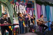 Fitz and the Tantrums perform in the VIP area at BottleRock in Napa, May 26, 2017.