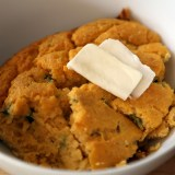 Thanksgiving Recipe: Sweet Potato Spoonbread with Roasted Poblanos