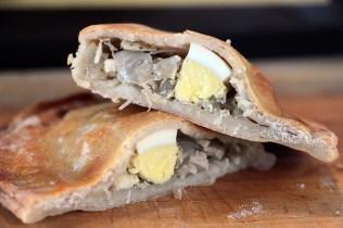 The pollo empanada interior.