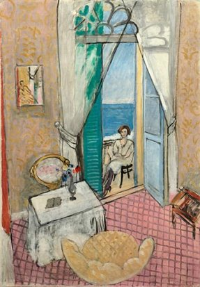 "Henri Matisse, ""Interior at Nice,"" 1919; oil on canvas; The Art Institute of Chicago."