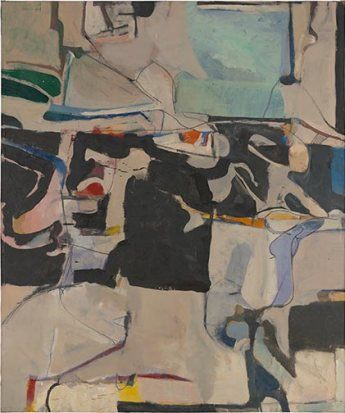 "Richard Diebenkorn, ""Urbana #6,"" 1953; oil on canvas; Modern Art Museum of Fort Worth."