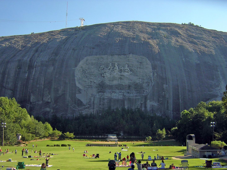 Famous Stone Carving Mountain Near Atlanta