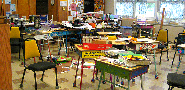 Image result for messy, dirty classroom
