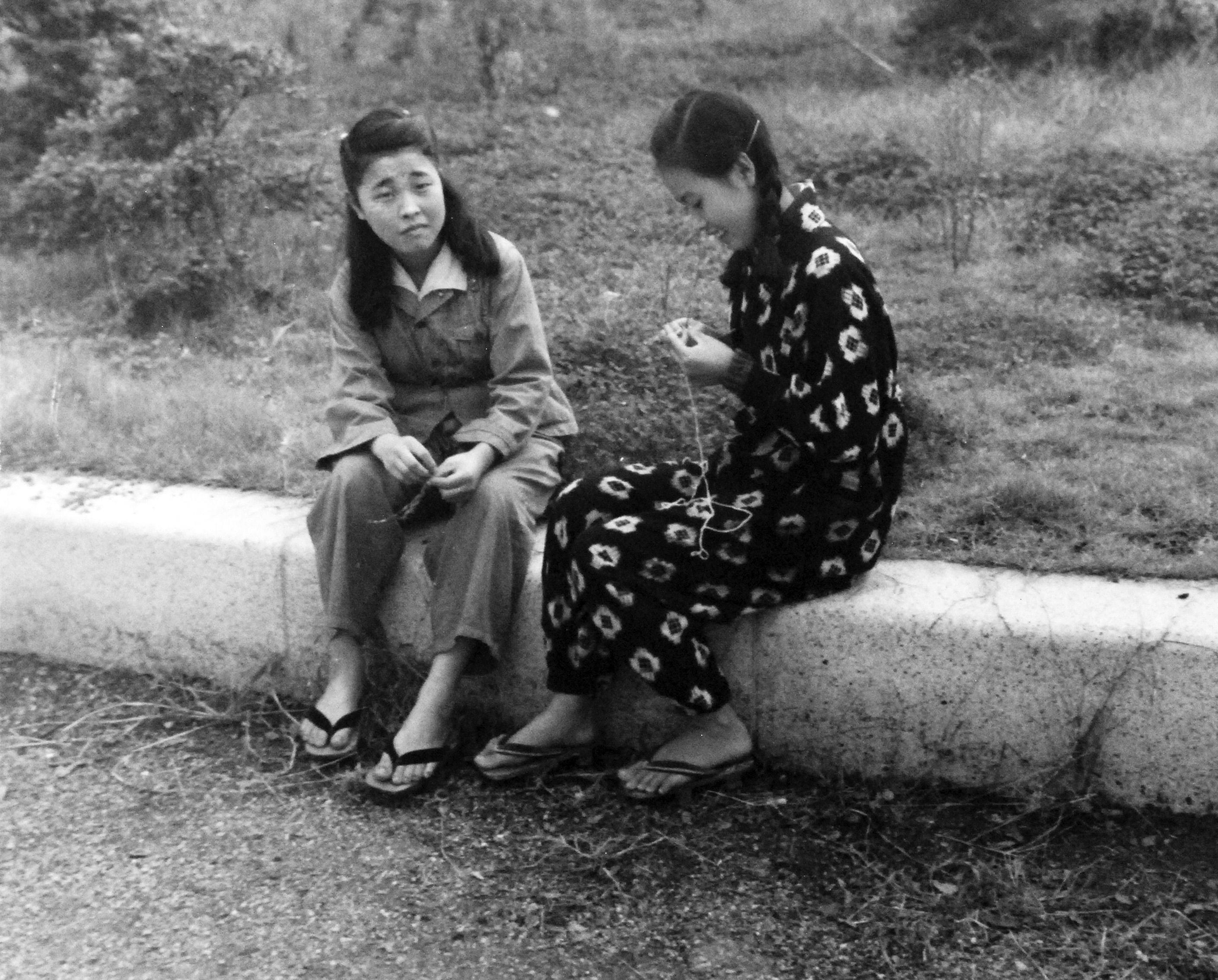 Photo Japanese Civilian Women Sasebo Japan Sep Oct