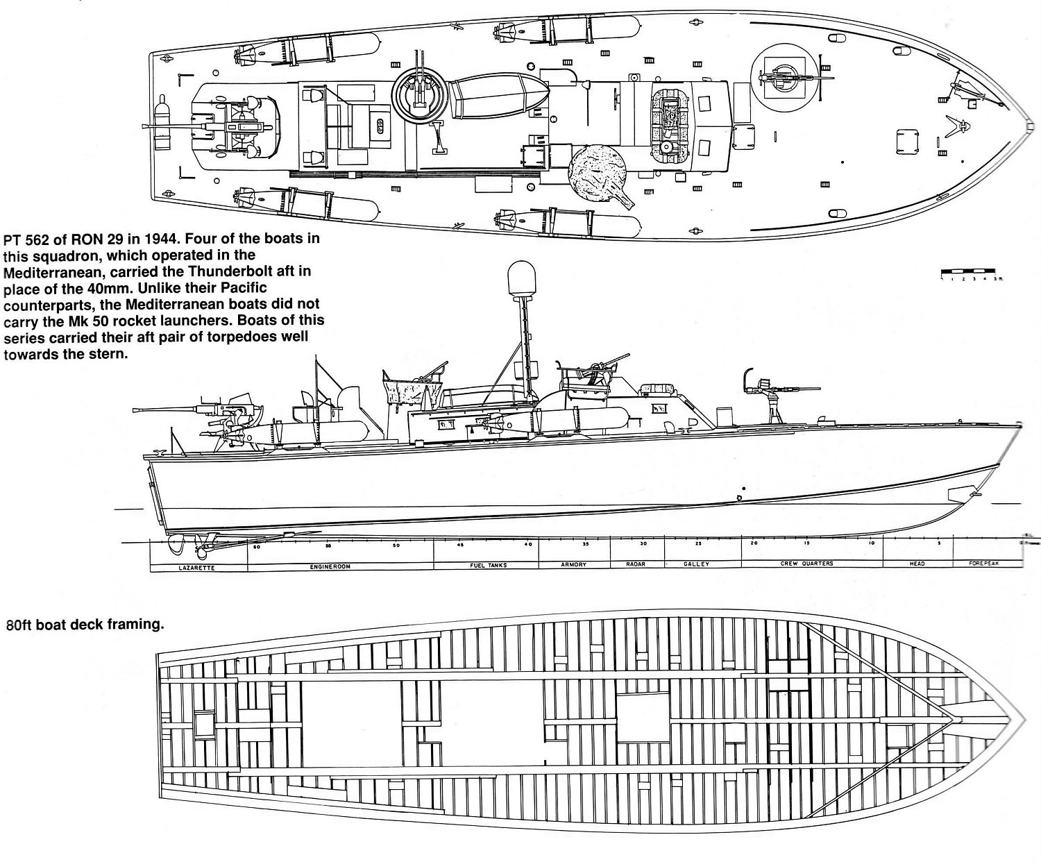 Photo Sketch Of An 80 Foot Pt Boat In The Set Up Used