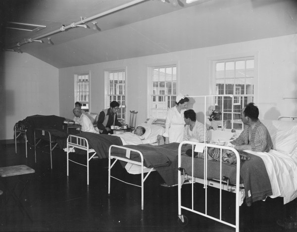 [Photo] First ward of the hospital at Jerome War ...