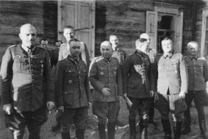 Russland, Generale vor Holzhaus