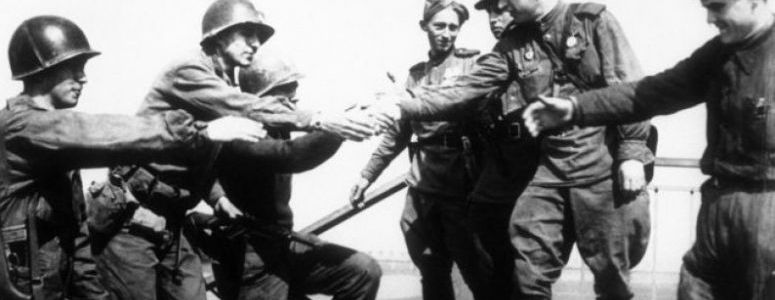 Elbe Day, April 25, 1945, is the day Soviet and American troops met