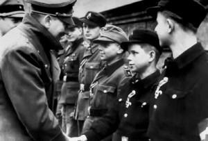 Hitler in Hitlerjugend (Hitler Youth) award ceremony in Berlin 1945b