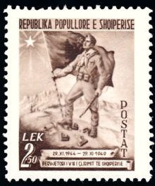 Albanie 414 soldat et drapeau