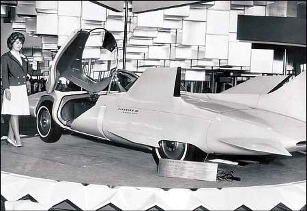 Futuristic Car Concept at the Century 21 Exposition.