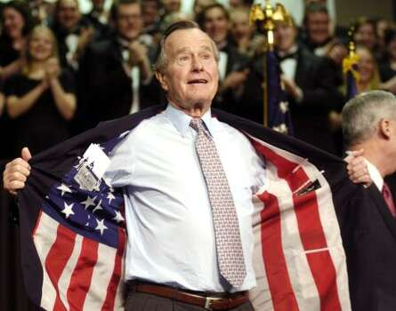 Undated photo of former President George H. W. Bush by Allison Slomowitz, AP, via Houston Chronicle