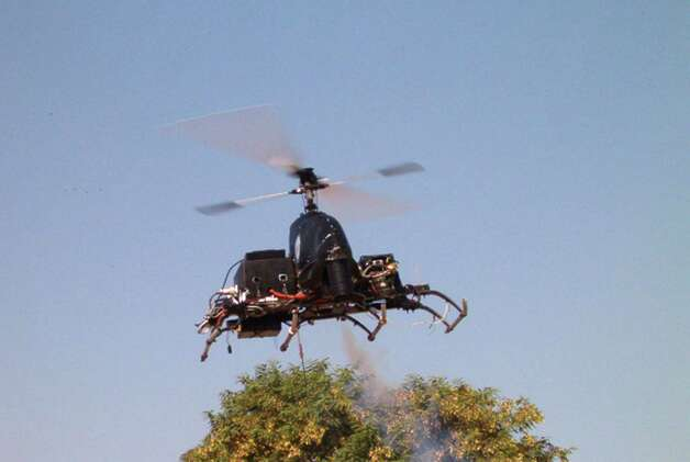 "This prototype remote control helicopter being developed for use by the Israeli military was stolen on November 9, 2003, an act described as ""industrial espionage."" Photo: Getty Images / 2003 Getty Images"