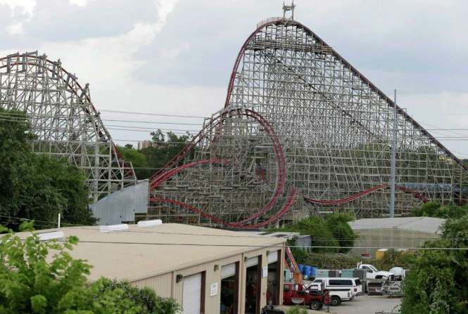 File In This July 20 2017 Photo The Texas Giant Roller Coaster Ride