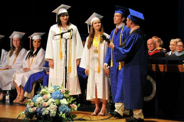 Scenes from the commencement ceremony at Darien High ...