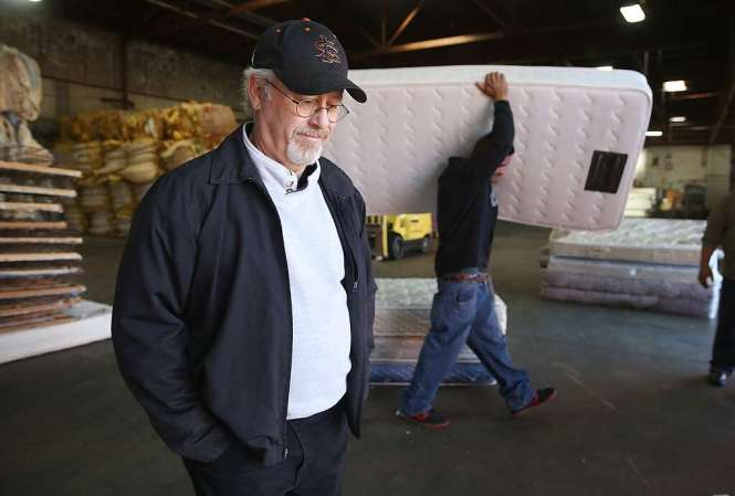 Facility Manager Robert Jack Gives A Tour Of Oakland S Dr3 Mattress Recycling Center In