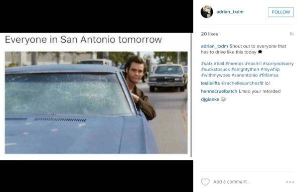 San Antonio mocks April storms, hail damage with memes ...