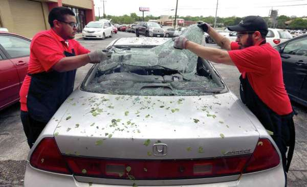 Hail, rain pummel most of area - San Antonio Express-News