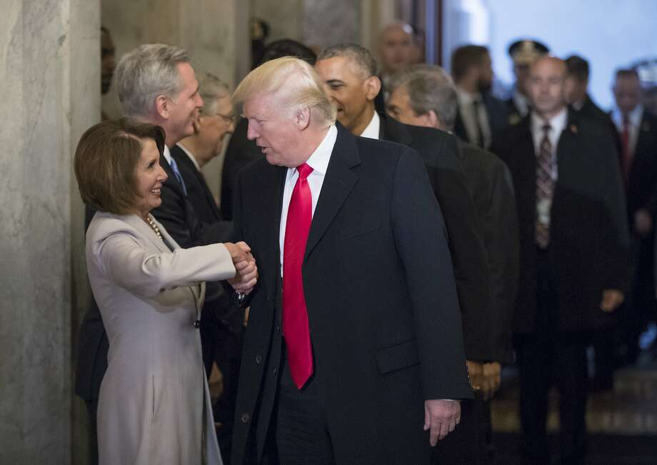 Image result for photos of pelosi and schumer meeting with trump