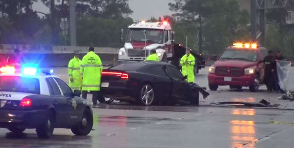 Three people died in a Northwest Freeway crash Sunday morning. Photo: Metro Video