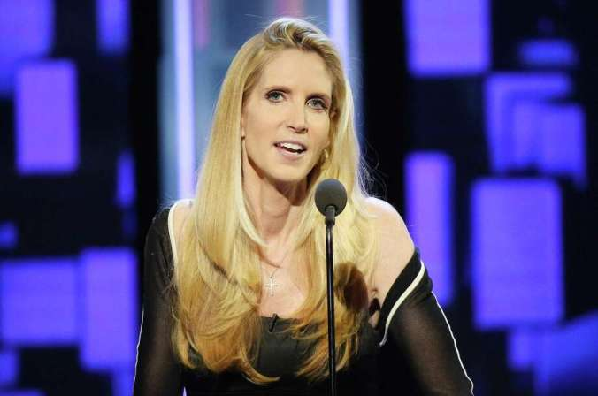 LOS ANGELES, CA - AUGUST 27:  Ann Coulter speaks onstage during The Comedy Central Roast of Rob Lowe held at Sony Studios on August 27, 2016 in Los Angeles, California.  (Photo by Michael Tran/FilmMagic) Photo: Michael Tran / FilmMagic / 2016 Michael Tran