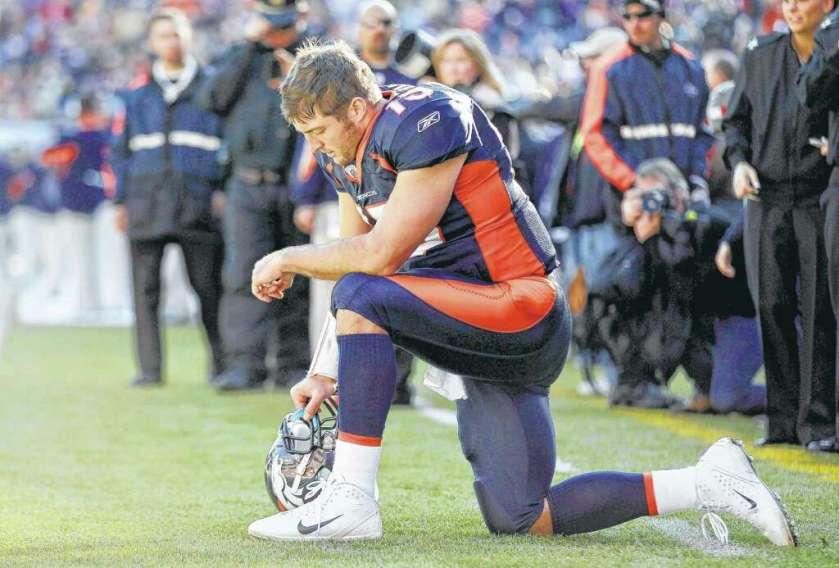 Image result for tim tebow kneel