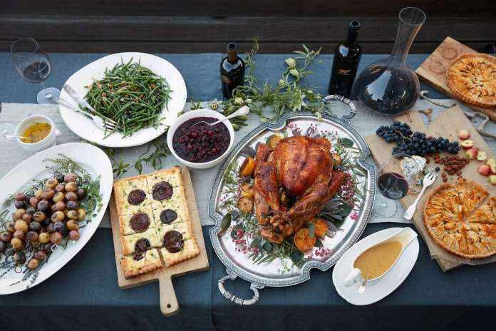 Zoe Johns, vintner and president of Turnbull Wines, shared a Thanksgiving dinner with friends and family on Thursday, Nov. 2, 2017 in Stinson Beach, Calif. Photo: John Lee, Special To The Chronicle