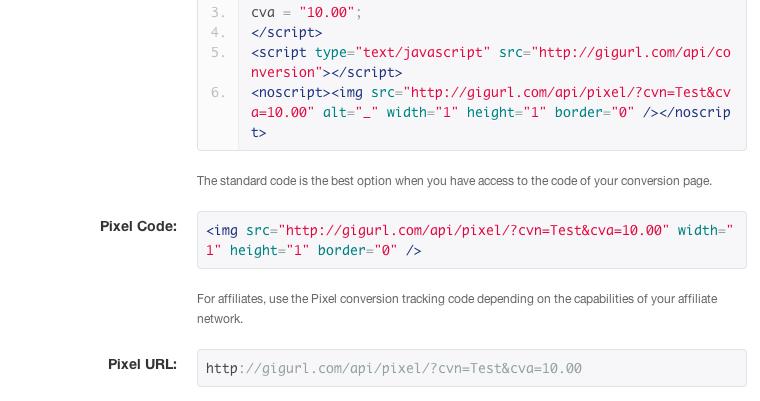 pixel tracking code