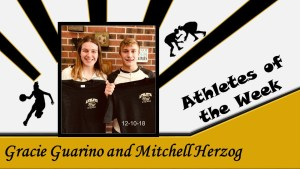 Guarino and Herzog Athletes of the week for December 10-16, 2018