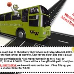 High School Students can purchase ticket + bus for $8.00