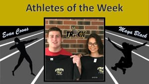 Evan Coons and Maya Black are Athletes of the Week for April 15, 2019