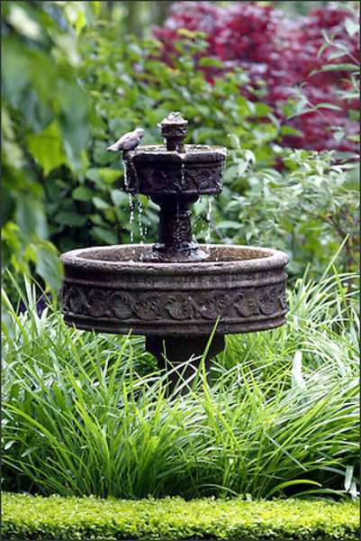 english garden fountains water features Water features to fit any space - seattlepi.com