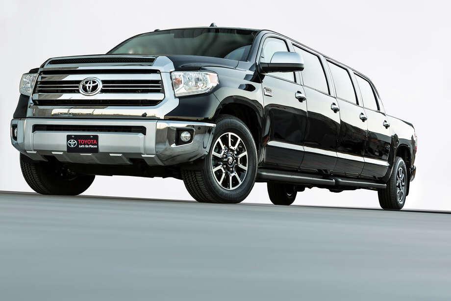 "The Toyota ""Tundrasine"" Tundra/Limousine concept truck was unveiled at the 2015 SEMA auto show. Photo: Toyota"