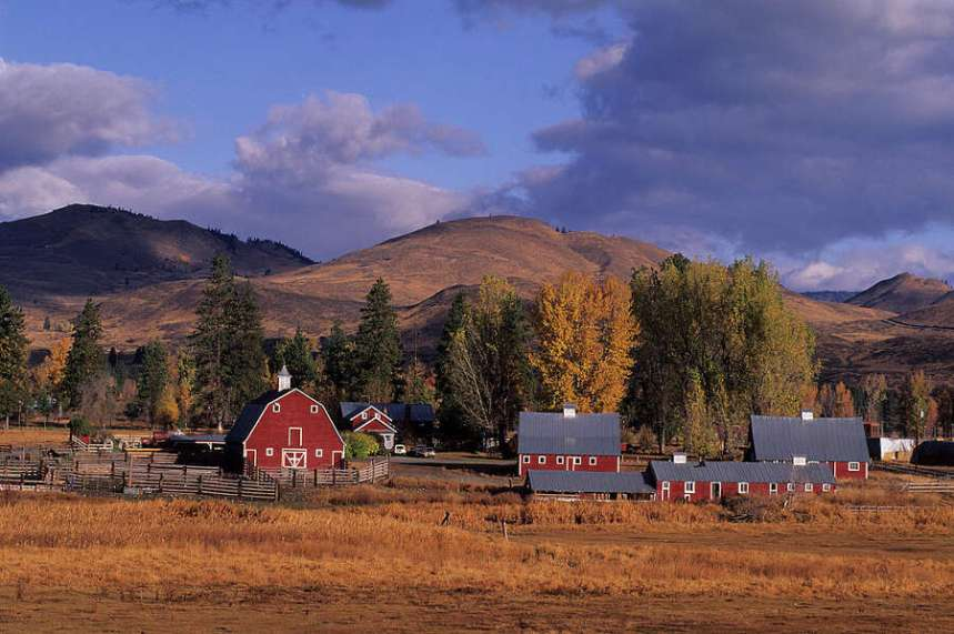 Mazama in the Methow Valley:  Local residents, including wealthy environmentalists with vacation homes, have fought against exploratory drilling by a Canadian mining company on U.S. Forest Service land. Photo: Wolfgang Kaehler/LightRocket Via Getty Images
