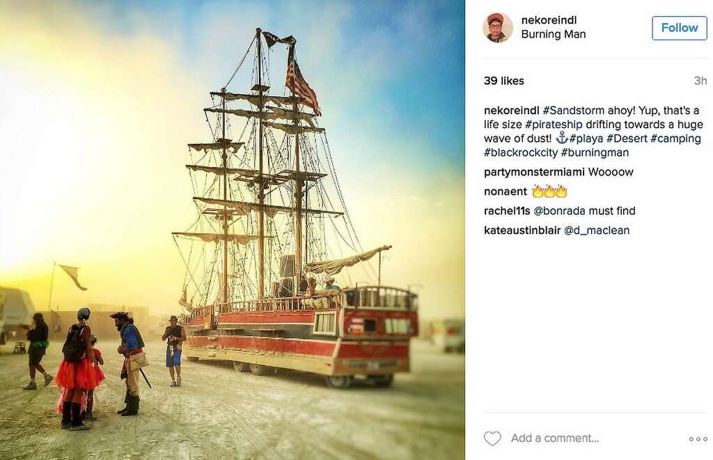 Can you direct me to the nearest port, matey? Photo: Instagram Screenshot