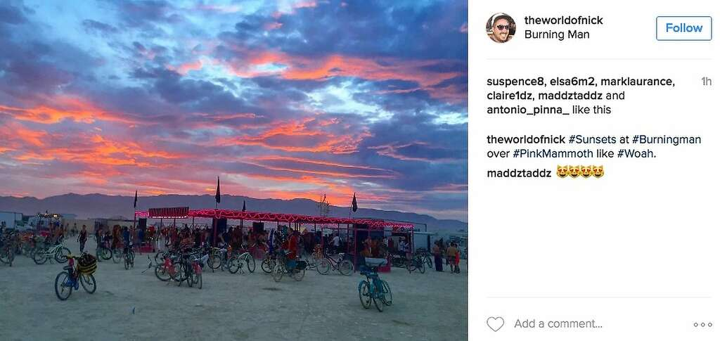 Another great sunset. Photo: Instagram Screenshot