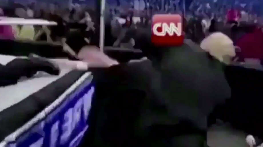 Image result for Trump beats up cnn guy