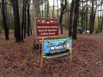 960x720 WWALS banner at Red Roberts Landing, in Before, by Gretchen Quarterman, for WWALS Watershed Coalition, Inc., 29 March 2014
