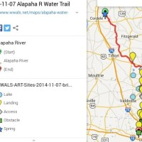 Map of Alapaha River Water Trail 2014-11-07