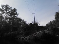640x480 Power line 2, in Statenville to Sasser Landing on the Alapaha River, by John S. Quarterman, for WWALS.net, 15 February 2015