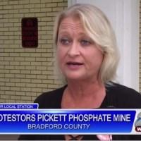 Phosphate mine protest in Bradford County on WCJB, Gainesville, FL