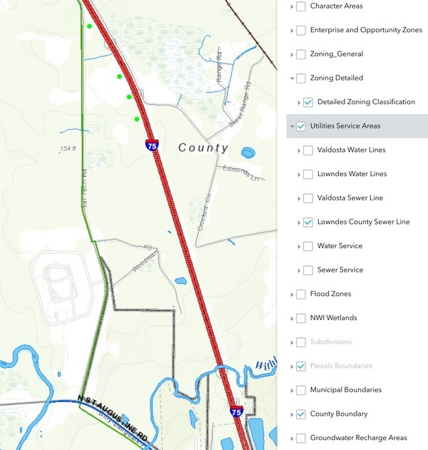 VALORGIS Lowndes County Sewer Line, Val Tech Road